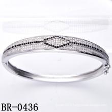 Bracelet en argent sterling 925 Sterling Micro Pave (BR-0436)