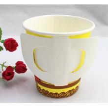 7oz, 9oz tasse à papier jetable à simple paroi avec poignée