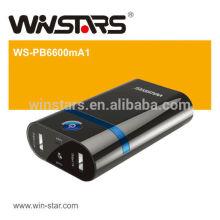 6600mAh Netzteil mit Dual-Aufladung, mit LED-Fackel-Funktion
