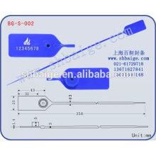 selo de plástico BG-S-002 para uso de segurança