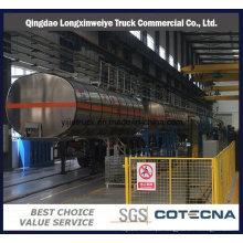 Reboque material do depósito de gasolina da liga de alumínio 38cbm semi