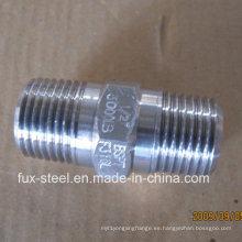 BSPT rosca acero inoxidable 304/316 niple hexagonal directo fábrica