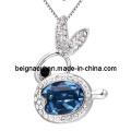 Sw Elements Crystal Aquamarine Color Rabbit Colliers Bijoux