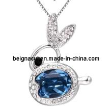Sw Elements Crystal Aquamarine Color Rabbit Necklaces Jewelry