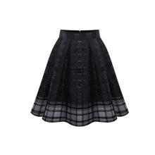 2017 High quality black breathable women puff skirt plus size dress girls wearing short skirts