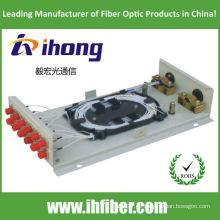 Wandkasten Faseroptik Koffer FC12 mit Adaptern und Pigtails