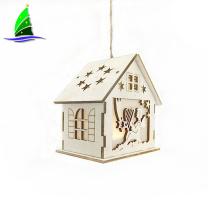 Wooden House Shaped Home Decor Led Light