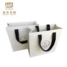 Завод Оптовая Продажа Роскошные Белый Матовый Слоение Торговый Дизайн Упаковки Печатание Изготовленный На Заказ Метки Частного Назначения Бумажные Мешки