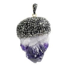 Joyería del colgante de la piedra preciosa de la piedra preciosa natural de la manera