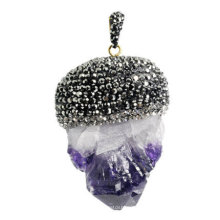 Fashion Natural Gemstone Amethyst Pendant Jewelry