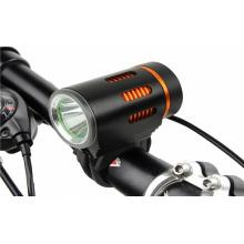 Outdoor-Hochleistungs-angetriebene 1 * Xm-L T6 / L2 LED-Reichweite Adjusteable Wiederaufladbare Fahrrad- / Fahrrad-LED-Licht