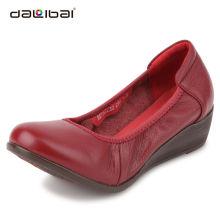 wholesale leather latest design ladies flat dress shoes