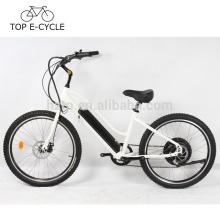 Top ebike 500W beach cruiser electric bicycle 26inch 48V 10.2Ah battery city cruiser bike made in China