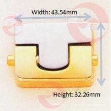 Rechteck-Push-Lock für Handtasche (R1-21A)