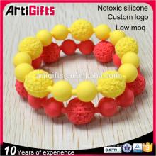 Bead bracelet making wholesale custom fashion silicone bead bracelets for women