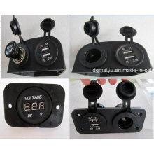 12V-24 V wasserdicht Auto Zigarettenanzünder Zigarettenanzünder / Voltmeter / Auto USB Ladegerät Jack / Socket