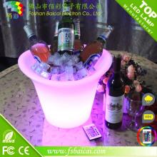 Cubeta de gelo LED recarregável