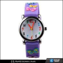 Relógio de silicone da promoção da correia da borboleta