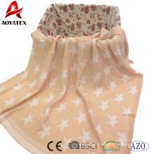 100% coton tricoté recevant la couverture de bébé rose