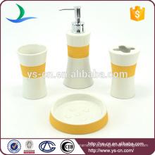 Casa de banho cerâmica quente Home Acessórios de banho de laranja Set