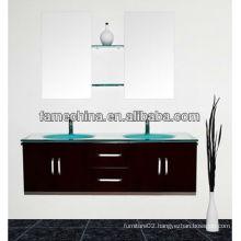Wall mounted double sink bathroom vanity