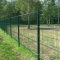 Green Plastic Coated Security Welded Wire Mesh Fence Panel