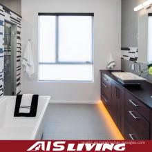 Vanidad de los gabinetes de cuarto de baño de la madera sólida del grano de madera (AIS-B018)