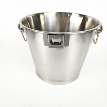 Barware Большая металлическая нержавеющая сталь шампанское прозрачное ведро со льдом с подставкой