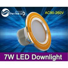 Высокая яркость 7W привели потолочные светильники, downlight, мощность привели