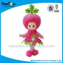 Linda muñeca de frutas vestir muñecas de tela