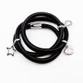 La mode a enveloppé les bijoux en cuir véritable de bracelet, bracelet fait sur commande de charme