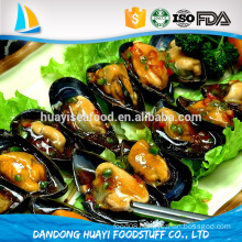 Chinese supplier deep processing half shell mussel meat seafood