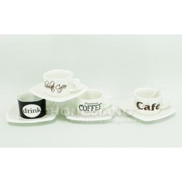 Coffee Cup & Saucer (HJ60017)