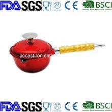 Cast Iron Enamel Milk Pot BSCI LFGB FDA Approved, Nonstick Cast Iron Enamel