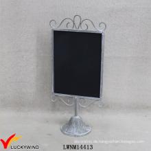 Vintage Grau Metall Eingerahmte Zeichen Funktion Kleine Hand Tafel