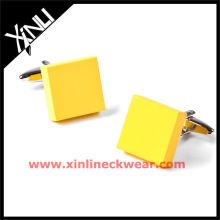 2013 neue leere Manschettenknöpfe gelb