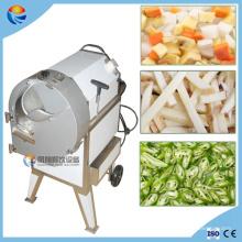 Trancheuse de pépites de patate douce électrique automatique industrielle d'ananas de papaye