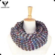 Moda Multicolor Mohair Bufanda de punto Infinity