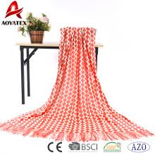 Couverture en tricot acrylique à bas prix la plus populaire