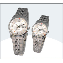 Amant, acier inoxydable Couple montres (15175)