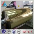 Flexible Verpackung PET selbstklebend glänzend gold silbermetallisierte Folie für Polyester
