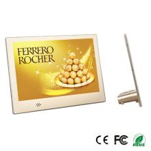 """multi função LCD 10.1 """"polegadas moldura digital com moldura de alumínio ouro"""