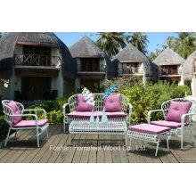 Superbe ensemble de canapé de jardin en wicker en plein air 5 pièces (OT23)