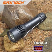 Mamtoch DI6X-4 Schwarz Aluminium Wasserdichte LED Tauch Taschenlampe xml
