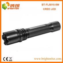 Fabrik-Versorgungsmaterial 1 * 18650 Lithiumbatterie angetriebene leistungsstärkste lange Lichtstrahl-Abstands-Aluminiumcree XPG 5W führte nachladbare Taschenlampe