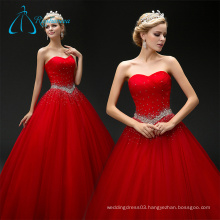 A-Line Pleat Sweetheart Tulle Sequined Crystal Wedding Dress