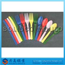 Plastic knife fork spoon mould, knife mold, tableware mould