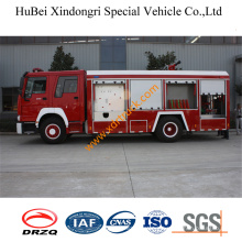 7ton HOWO Foam Fire Tender Euro2