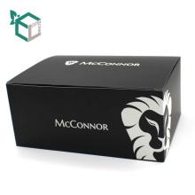 CMYK-Druck-schwarzer weicher Papierkasten für Ihren Logo-Entwurf