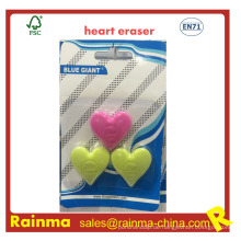 Herzform-Radiergummi mit geprägtem Logo